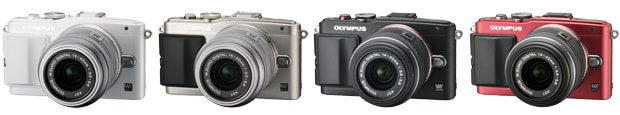 OLYMPUS PEN Lite E-PL6 (White/Silver/Black/Red) + M.ZUIKO DIGITAL 14-42mm f3.5-5.6 II R