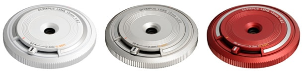 BCL-1580 Body Cap Lens (White/Silver/Red)