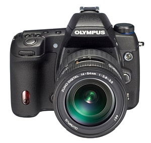 Developed Product: Olympus E-System interchangeable-lens digital SLR camera positioned as a mid-level model