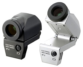 VF-2 Electronic Viewfinder Left: Black, Right: Silver