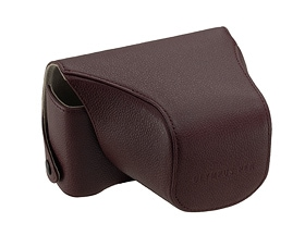 Genuine Leather Front & Body Case CS-13FBCWRD (Wine Red)