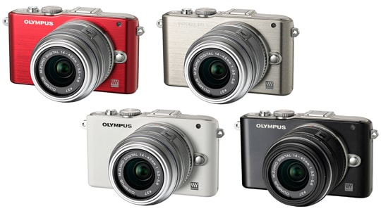 OLYMPUS PEN Lite E-PL3 (Red / Silver / White / Black) with M.ZUIKO DIGITAL 14-42mm F3.5-5.6II R