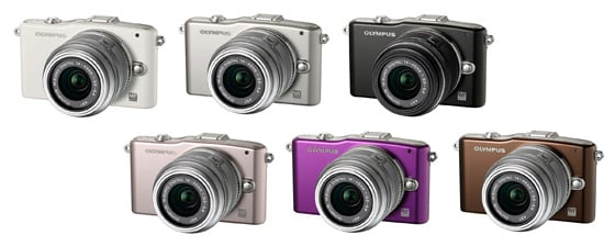 OLYMPUS PEN mini E-PM1 (White / Silver / Black / Pink / Purple / Brown)M.ZUIKO DIGITAL 14-42mm F3.5-5.6II R