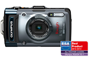 "The ""European All-Weather Camera 2012-2013"" award ""OLYMPUS Tough TG-1"""
