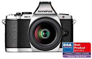 "The ""European Compact System Camera 2012-2013"" Award ""OLYMPUS OM-D E-M5"""