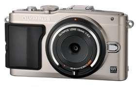 Image of BCL-1580 Body Cap Lens on OLYMPUS PEN Lite E-PL5
